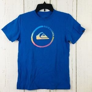 🌵Quiksilver Boys Blue Short Sleeve Tee Large